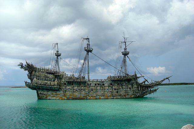 nave pirata dei mare dei caraibi