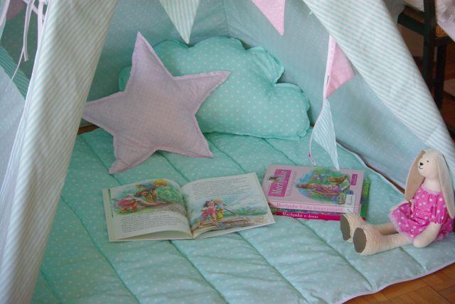 poduszki do tipi, materac do tipi, sziedzisko do namiotu dla dzieci, namiot dla dziecka