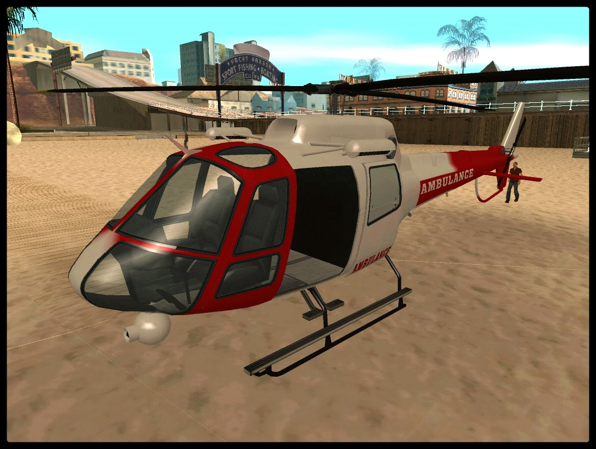 GTA SA - Helic�ptero Da Ambul�ncia Do GTA V