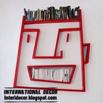 Fun wall shelves for kids room - fun bookshelf design