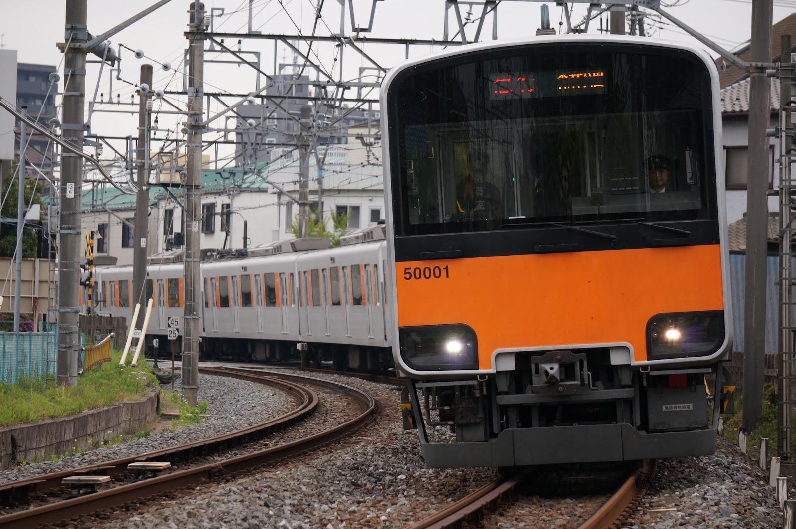 東上線を走る東武鉄道50000系51001F