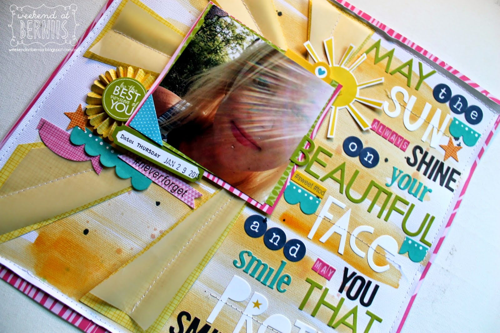 May the Sun Shine layout By Bernii Miller using Bella Blvd.