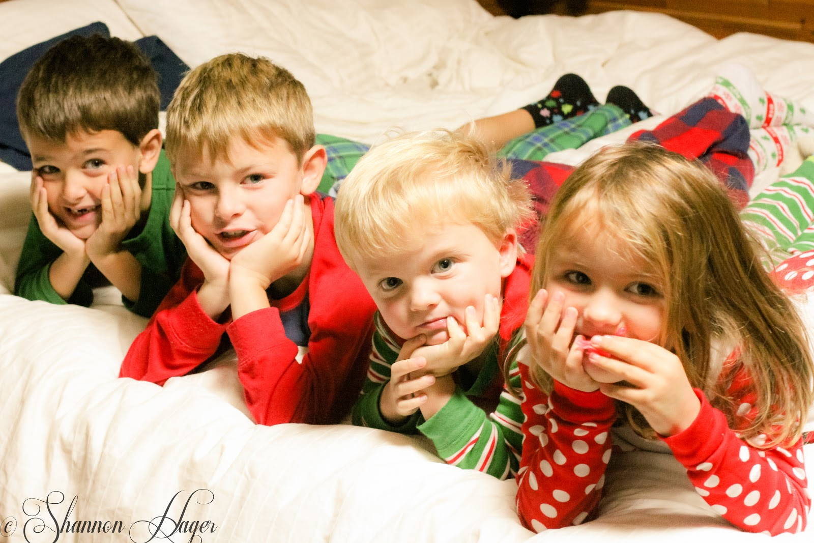 Enjoying Life With 4 Kids: Christmas Morning Santa Presents & Stockings