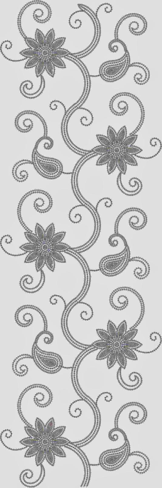 Duitse borduurwerk ontwerp Oral patroon
