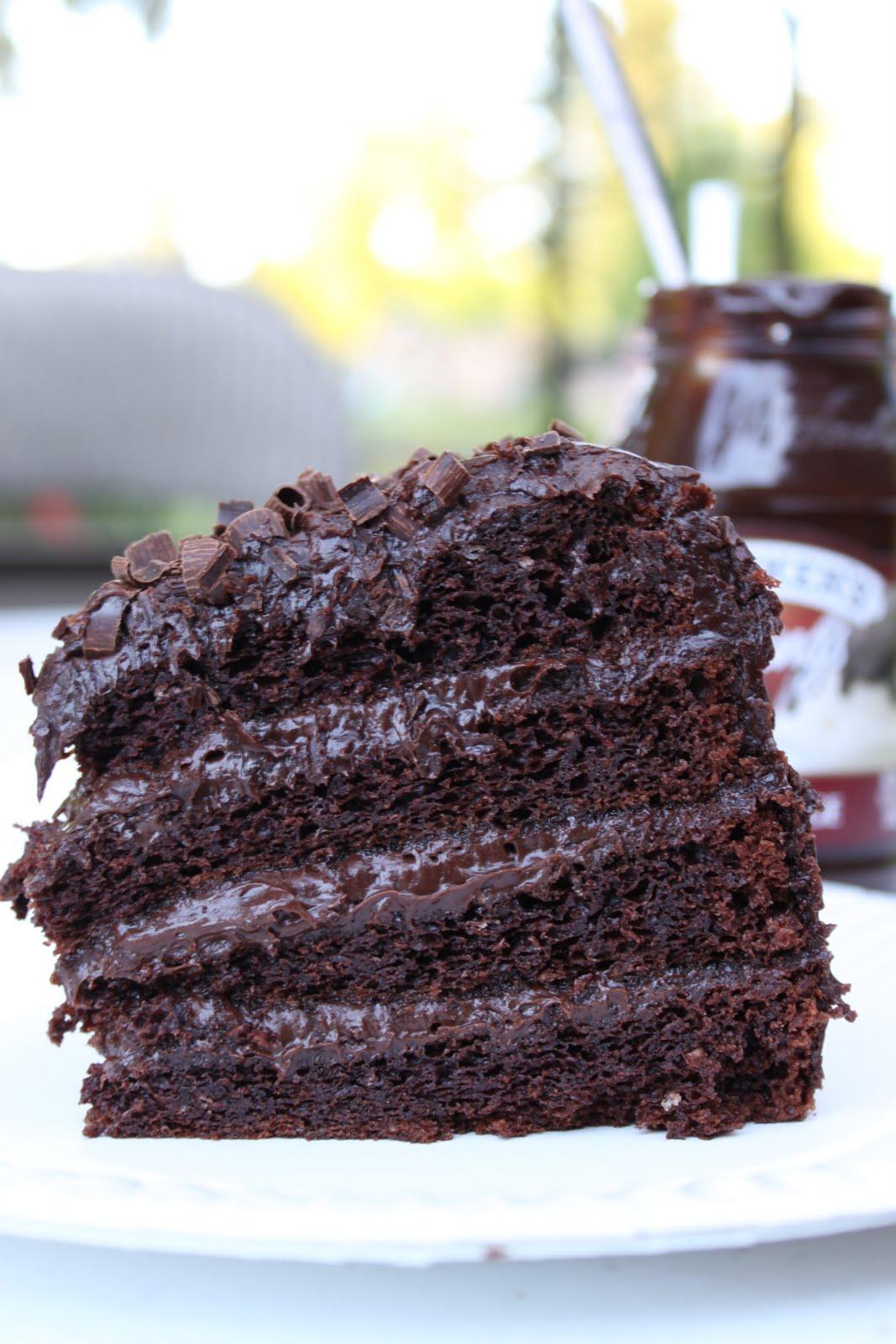 Girls in Aprons: Ice Cream Sundae 4-Layer Chocolate Cake