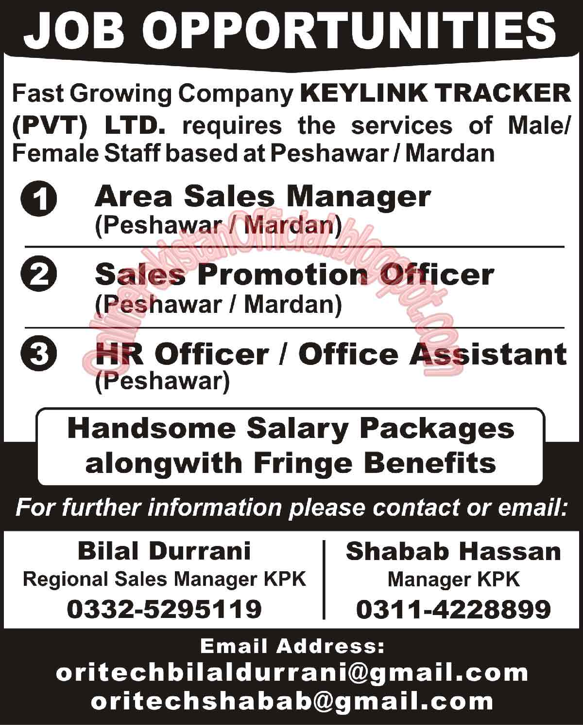 HR Officer Jobs in peshawar