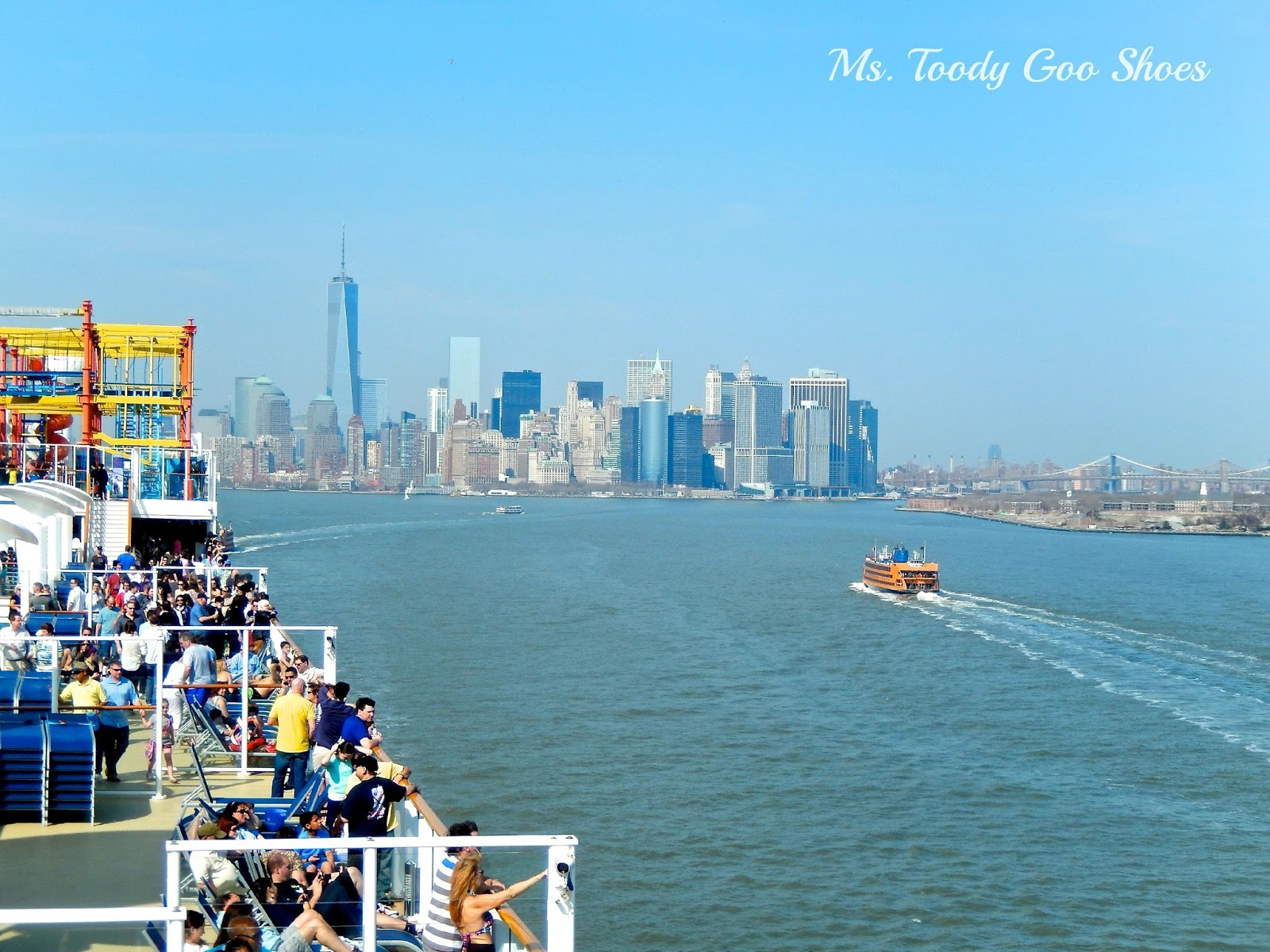 Ms Toody Goo Shoes Spring BreakAway Our Cruise Ship Departs - What cruise ships leave from nyc