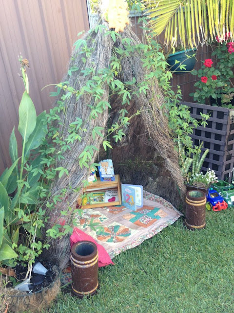 Garden Centre Home Corner Ideas : Let the children play simple space transformations shelters