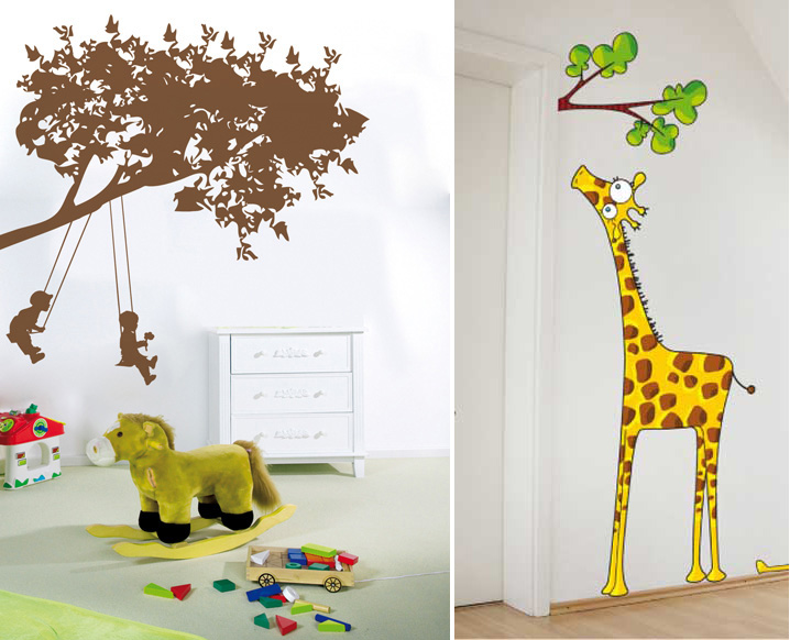 Art wall decor kids fun wall decor ideas for Sticker deco