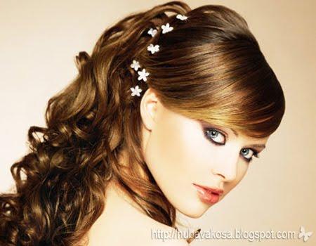 Булчински и вечерни прически 2011 - спусната коса
