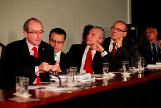 Eduardo Cunha, Henrique Alves, Michel Temer e Eliseu Padilha