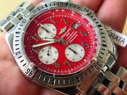 BREITLING CHRONOMAT EVOLUTION CHRONOGRAPHE CERTIFIE CHRONOMETRE RED DIAL 44mm - AUTOMATIC