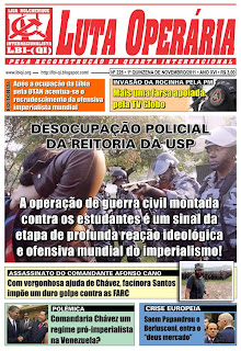 LEIA A EDIÇÃO DO JORNAL LUTA OPERÁRIA, Nº 226, 1ª QUINZENA DE NOVEMBRO/2011