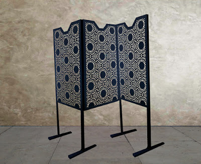 Decorative laser cut metal screens in modular sections