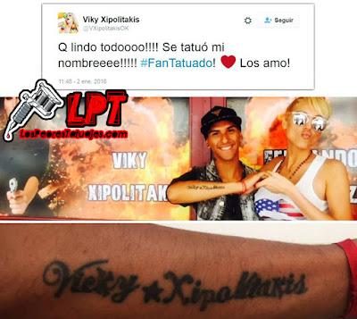 Tatuaje fan de Vicky Xipolitakis