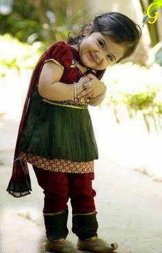 Cute Girls Baby Images-Fashion-Green-Dresses-Kids Pics
