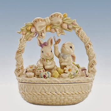 Holiday gift ideas gift ideas for men women children gifts easter morning bunny basket by lenox negle Images