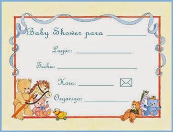 Tarjetas e Invitaciones de Baby Shower para Niños, parte 3
