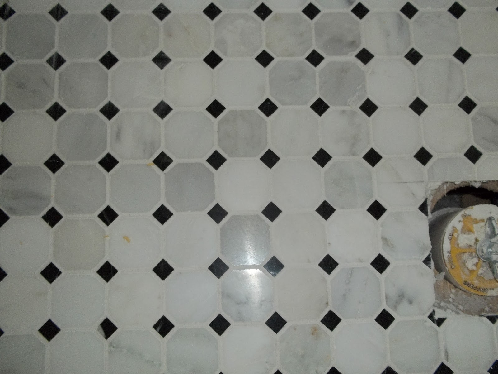 Tile installtion faq sanded grout or un sanded grout ask tile 2 inch hexagon marble tile with a dot easily scratched by sanded grout using a rubber float hand grouted with sanded grout for strength dailygadgetfo Choice Image