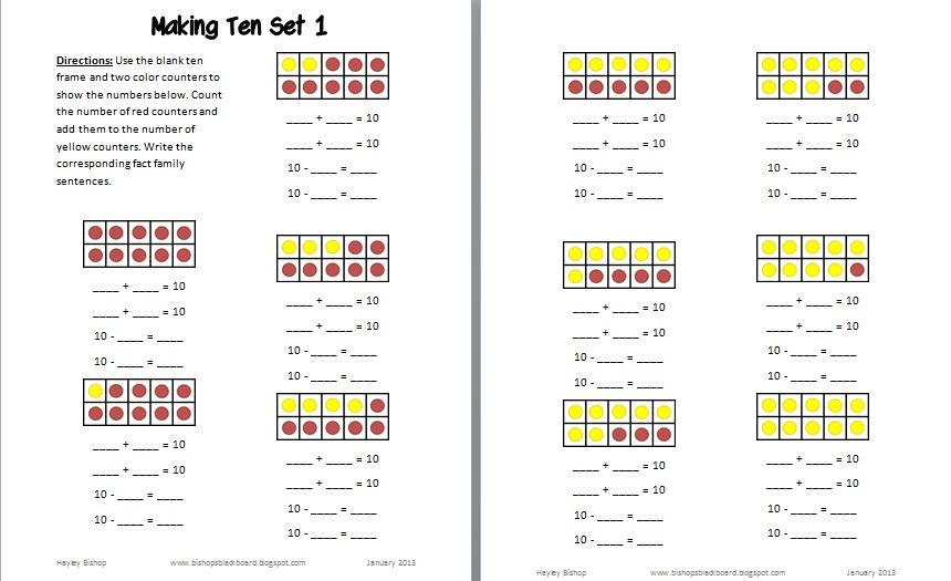 Bishop's Blackboard: An Elementary Education Blog: Making Ten ...