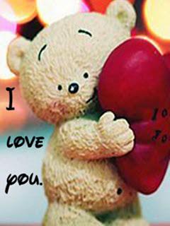 Wallpaper cantik teddy bear bantal love untuk android