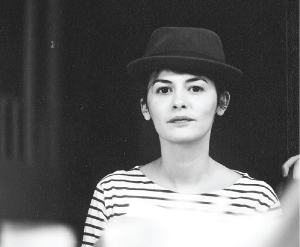 Audrey tautou in stripes & hat :: stylisti