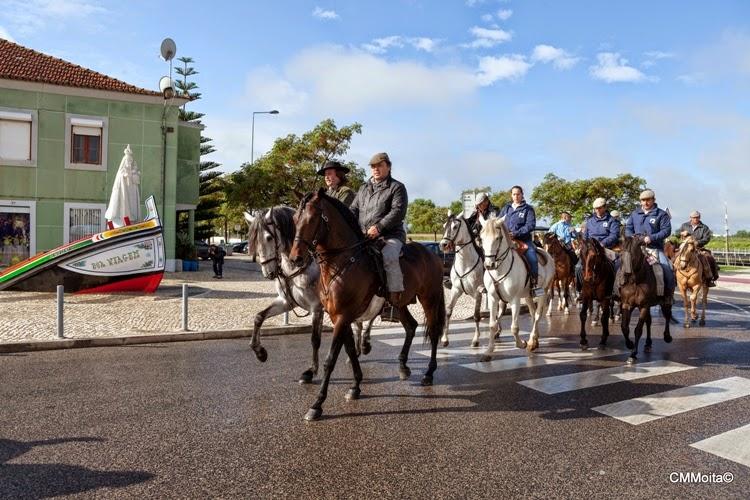A Romaria a Cavalo Moita – Viana do Alentejo - grupo de cavaleiros