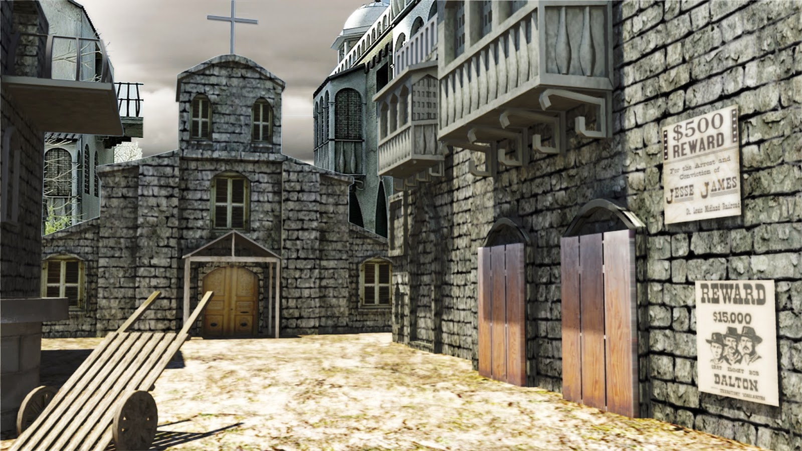 3d designing and visualizing exterior designs for Church exterior design ideas