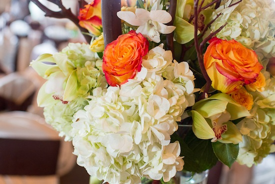 gorgeous and large floral centerpiece for the reception