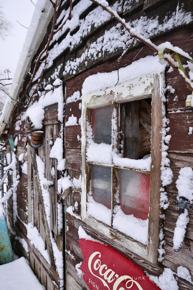 The Snowy Shed Out Back  And Some Snow Stories - Funky Junk