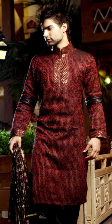 Mehndi Outfits For Guys : Mehndi dress for men new kurta design s b g