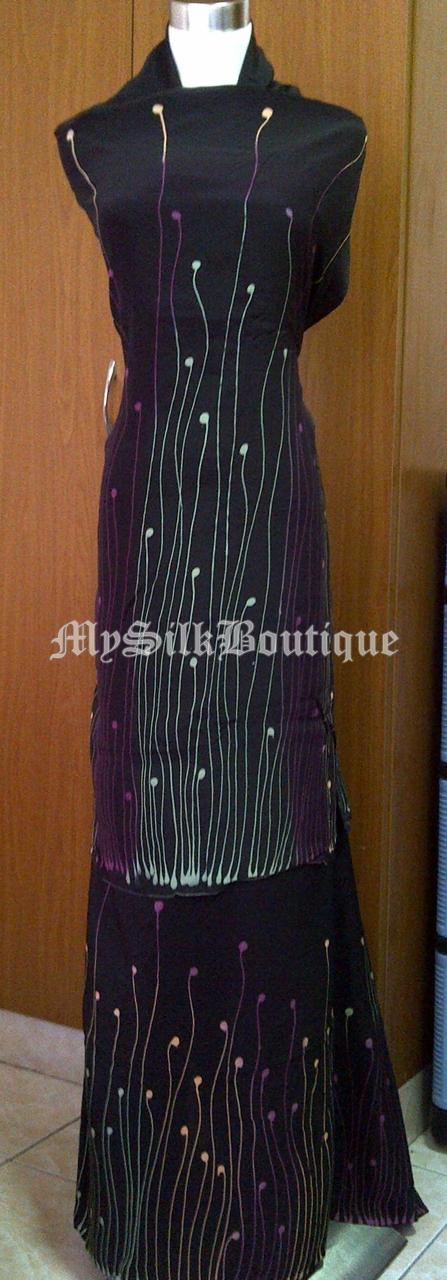Batik Sutera Terengganu: Batik Eksklusif Hitam Sri Bayu