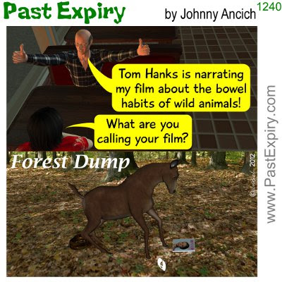 Cartoon about animals, celebrity, diarrhea, movie, spoof,