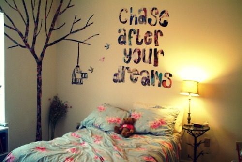 Wall Ideas For Bedroom Tumblr : Dan?ando de pijamas como fazer frases na parede