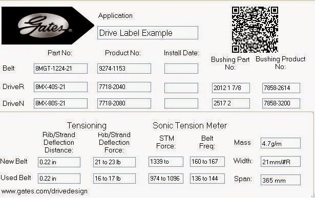 Gates Belts Hoses And Applications New Drive Label