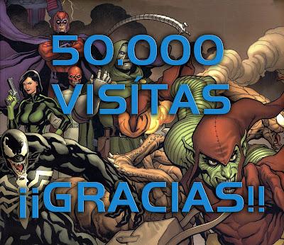 Tarjeta felicitación 50mil visitas