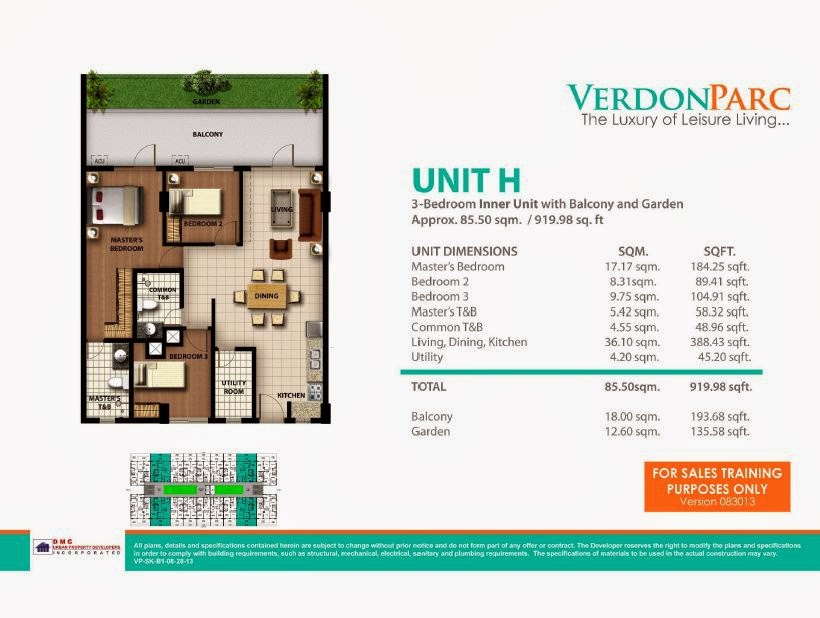 Verdon Parc Davao Unit H