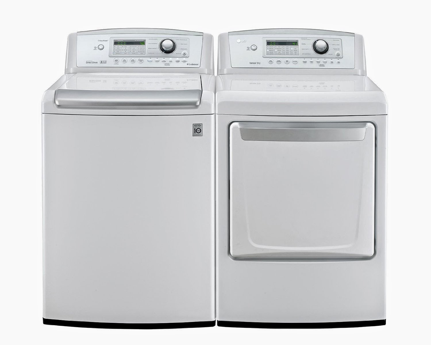 lg high efficiency top load washer with matching dryers