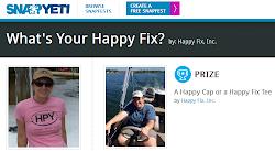 WIN A HAPPY CAP OR T-SHIRT!