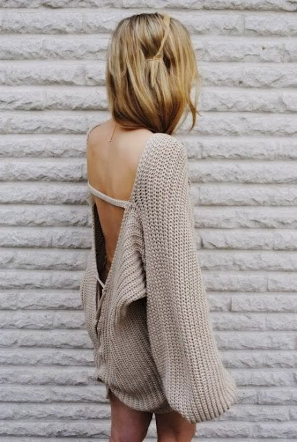 Open Back Oversized Cardigan