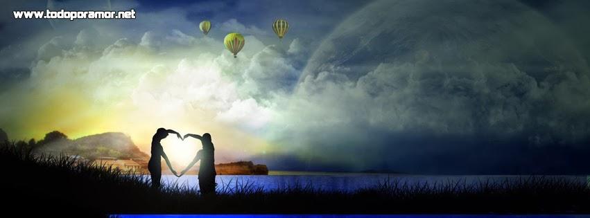 Bonitos diseños en portadas de amor para Facebook