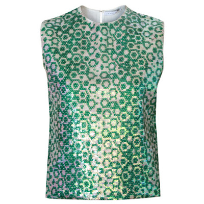 j.w. anderson sequin green ss14 shirt