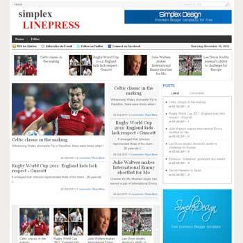 Simplex LinePress blogger template. magazine blogger template. template magazine blogspot
