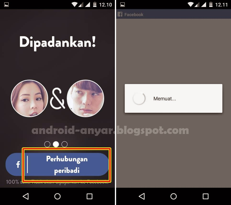 Registrasi PAKTOR Chat Android
