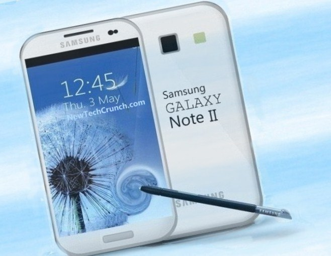 The Samsung galaxy note book 2 smartphone tablet new 2012