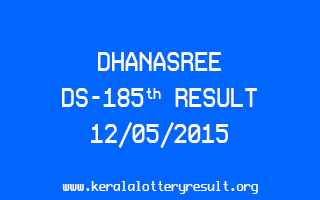 DHANASREE DS 185 Lottery Result 12-5-2015