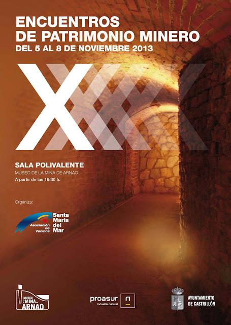 Cartel de los X Encuentros de Patrimonio Minero en Arnao