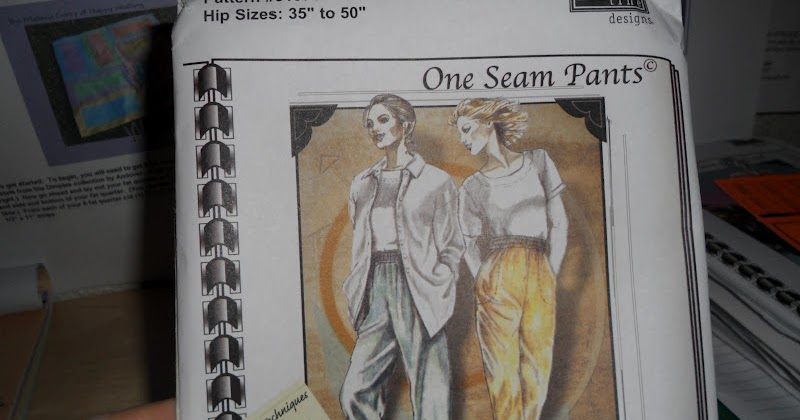 In Sewtopia: Part One-The One Seam Pants Pattern-Louise Cutting