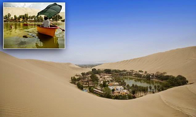 صورة للمنتجع وسط الصحراء