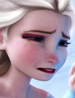 Elsa Frozen menangis